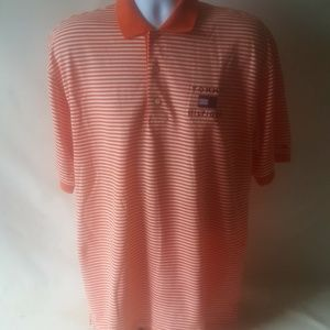 Tommy Hilfiger men's orange striped Polo
